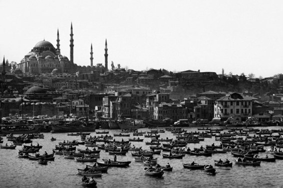 Ara Güler's boats on the Bosphorus image