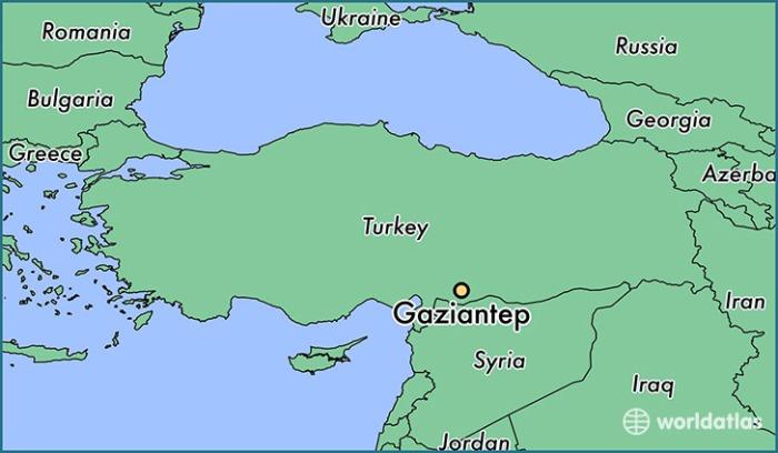 Gaziantep map