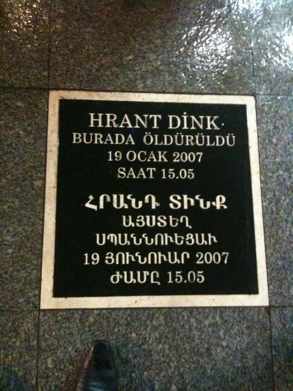 Hrant Dink plaque