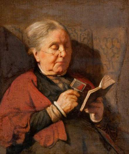 Pilsbury, Harry Clifford, 1870-1925; An Old Woman Reading